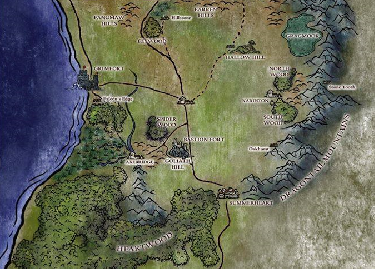 Southern Aythia Map