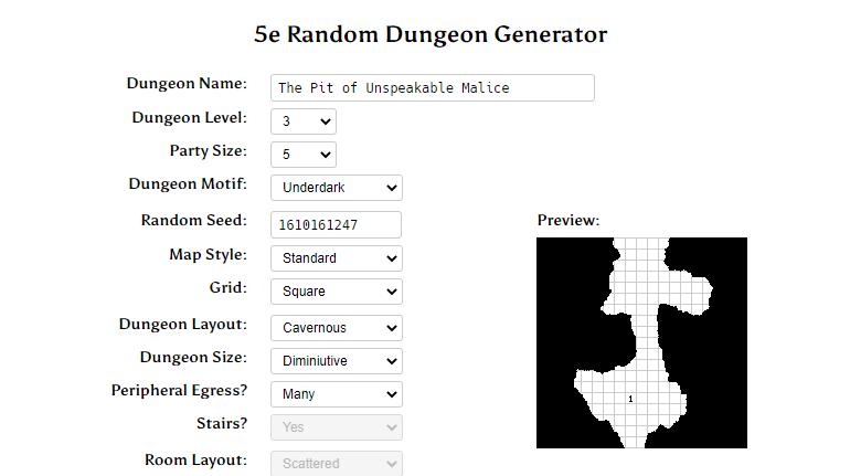 YumDM Donjon Map Settings